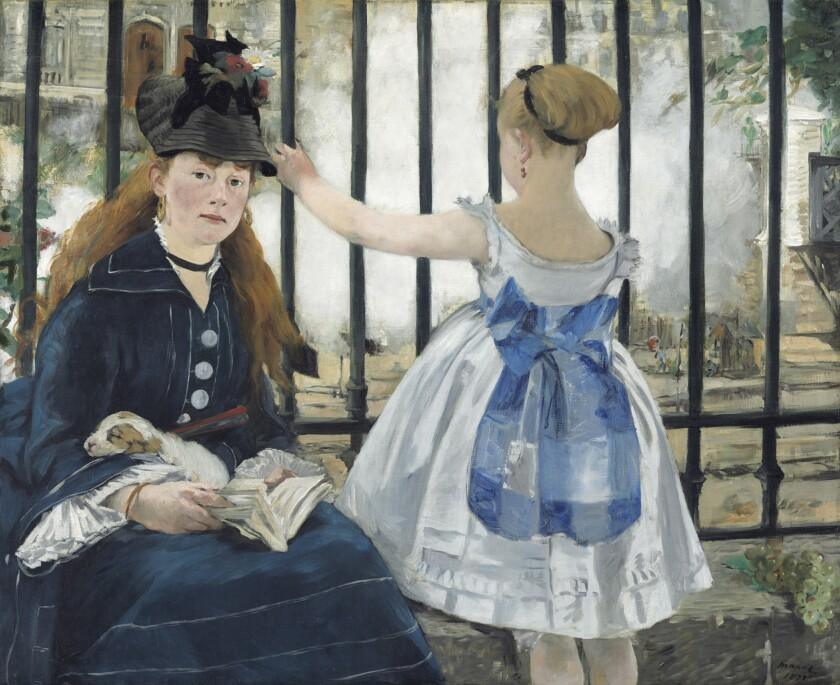 "Manet's ""The Railway"" is part of the National Gallery of Art's collection."