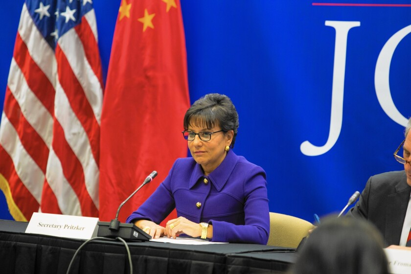 """""""There are political ramifications for the leaders of the other countries,"""" Commerce chief Penny Pritzker said in explaining the need for fast-track authority."""