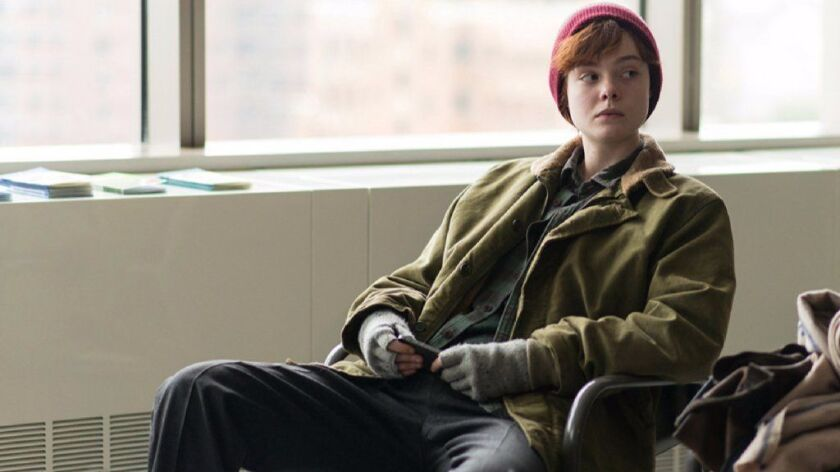 "Elle Fanning as Ray in the film ""3 Generations."""