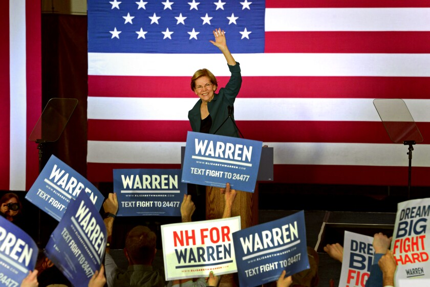 Elizabeth Warren in New Hampshire