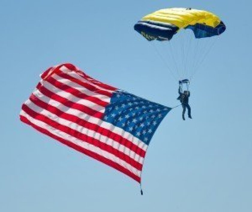 NAVY skydiver