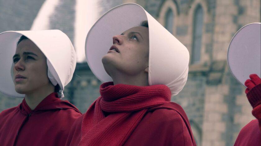 "Elisabeth Moss as June in ""The Handmaid's Tale"""