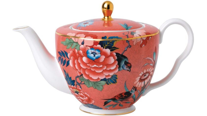 New from Wedgwood is the Paeonia Blush tea set. Credit: Wedgwood