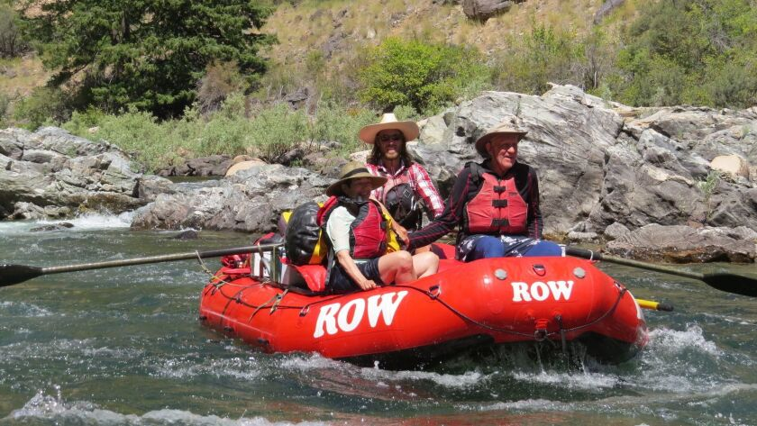 Rafting on Middle Fork of the Salmon River, in Idaho, led by ROW Adventures.