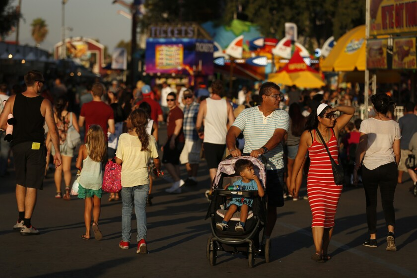Crowds at the L.A. County Fair in Pomona.