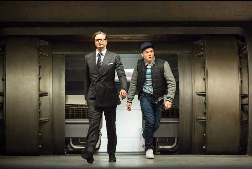 """Colin Firth and Taron Egerton in """"Kingsman: The Secret Service."""""""