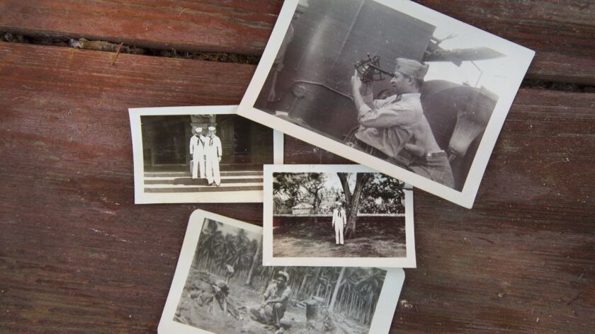 Photos taken of Ray Chavez during his years in the U.S. Navy from 1938 to 1945. The Poway Navy veteran was the nation's oldest surviving Pearl Harbor veteran until his death Nov. 21, 2018, at the age of 106.