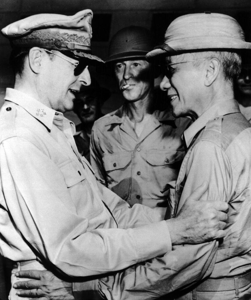 General Macarthur And Sergio Osmena 1945