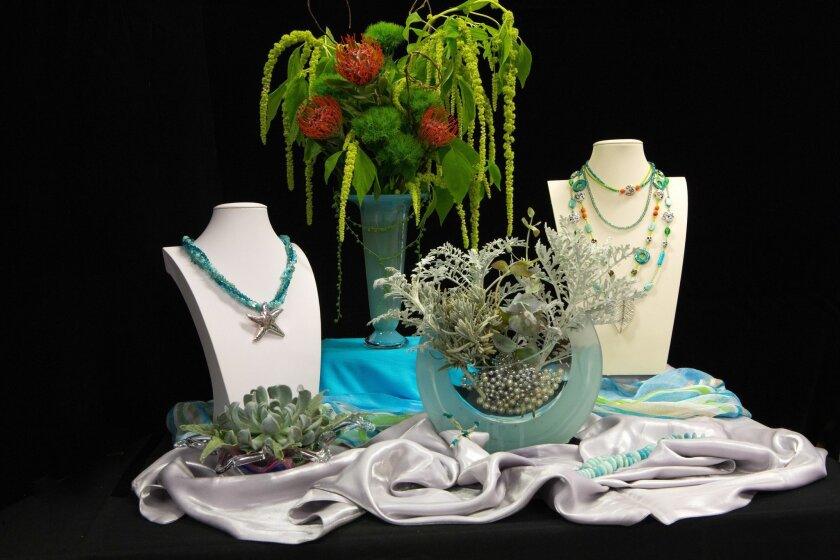 A display by artist Mary McSweeney and floral designers Louise Marino and Christine Wichard