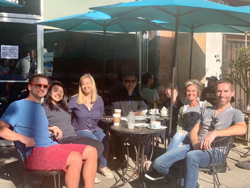Reese Norby, Abby Gonzalez, Marissa Norby, David Hauschild, Lois Hauschild, Kristen Norby and Andrew Hauschild.