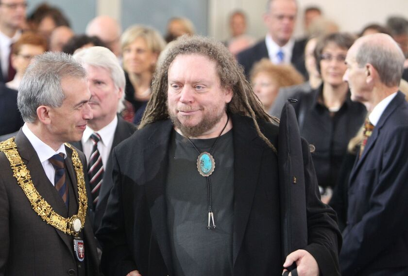 American digital theorist and author Jaron Lanier before being awarded the Peace Prize of the German Book Trade Assn.