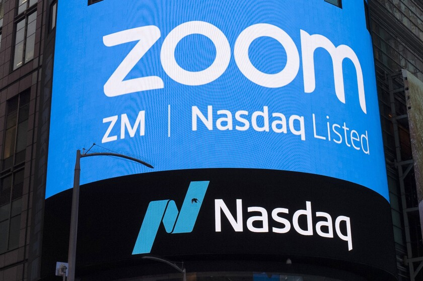 una imagen del logotipo de Zoom Video Communications