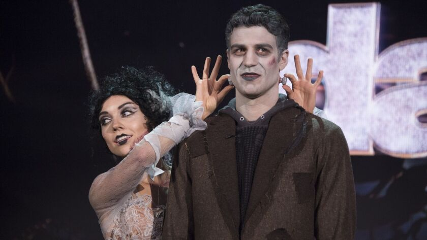Joe Amabile and Jenna Johnson scored 22 out of 30 for their Frankenstein-themed Argentine tango Monday.