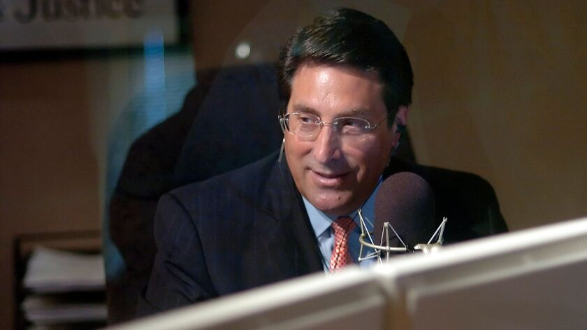 Jay Sekulow, shown recording his radio show in 2007, still riffs on the news nearly every day while also representing President Trump during the special counsel investigation.