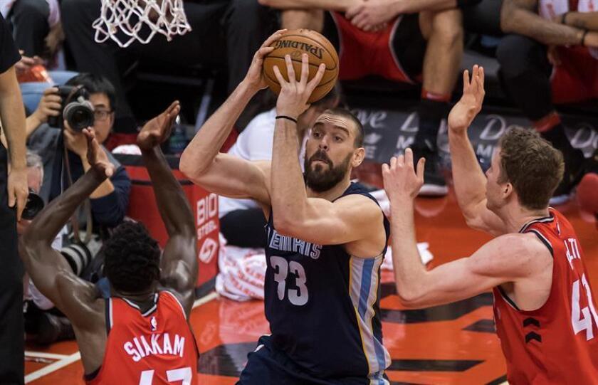 El español Marc Gasol (c) de Memphis Grizzlies durante un partido esta semana. EFE