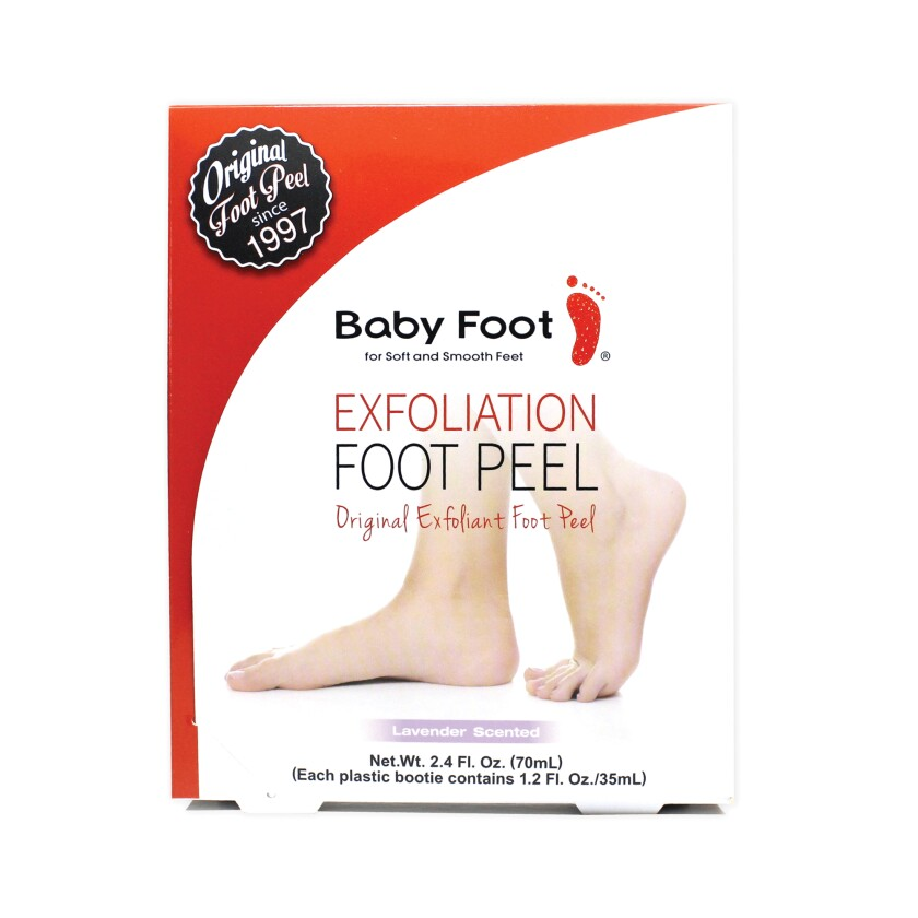 Baby Foot exfoliant foot peel package