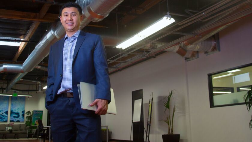 Tim Nguyen is working on transforming the look and feel of the business district on Convoy Street in