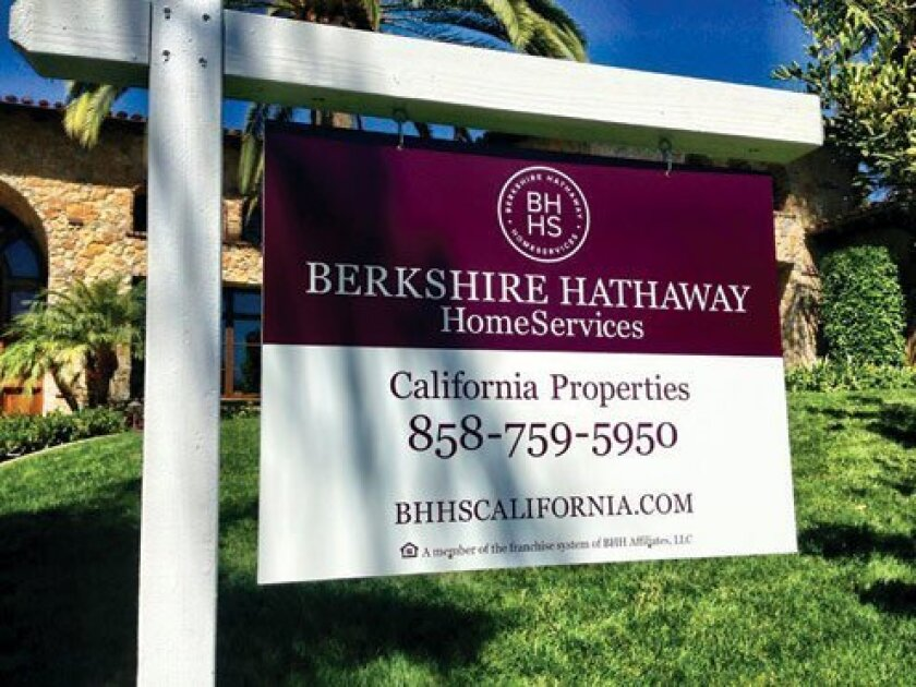 The Berkshire Hathaway name will soon be found on many 'for sale' signs on luxury properties in Southern California.