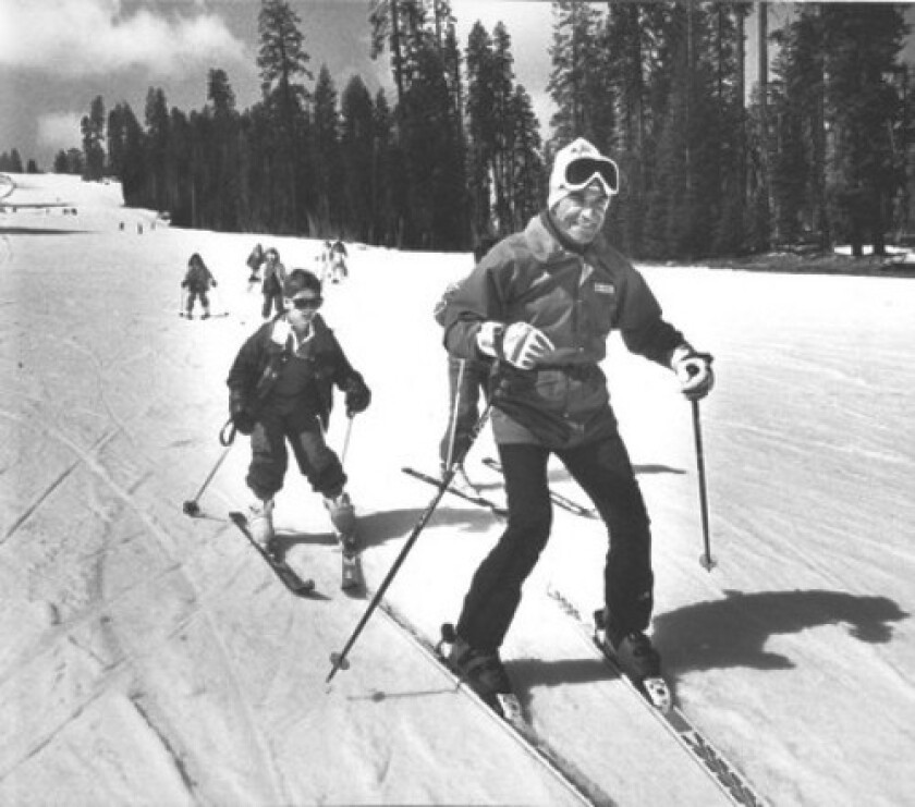 """Nic Fiore, shown in 1988, was dubbed the """"maitre d' of ski"""" at Badger Pass. He is said to have taught more than 100,000 people to ski at the resort over a 50-year period."""