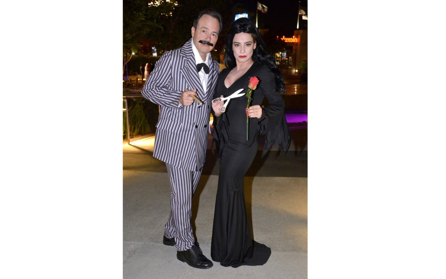 For this year's Leadership Burbank Halloween Bash Gema and Rey Sanchez went full-on creepy and kooky as Morticia and Gomez Addams.