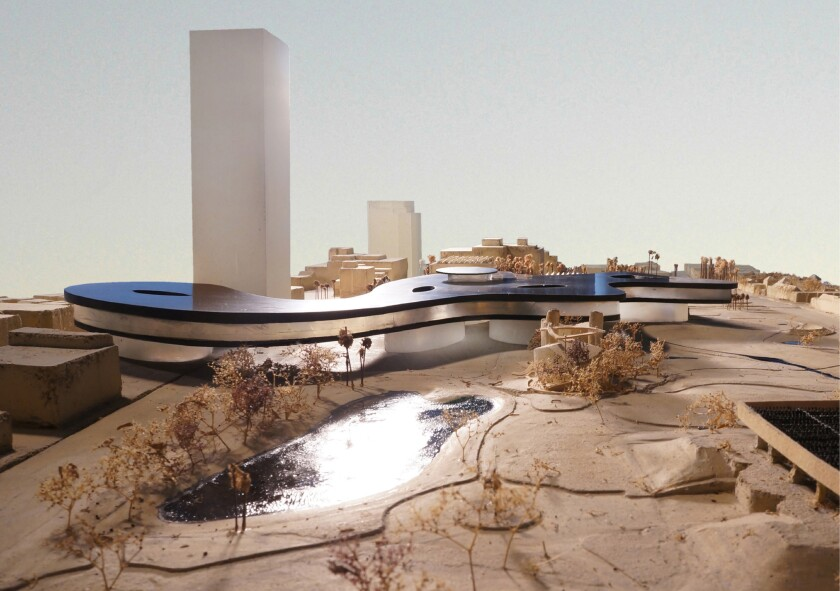 Peter Zumthor's proposed redesign for LACMA, facing west.