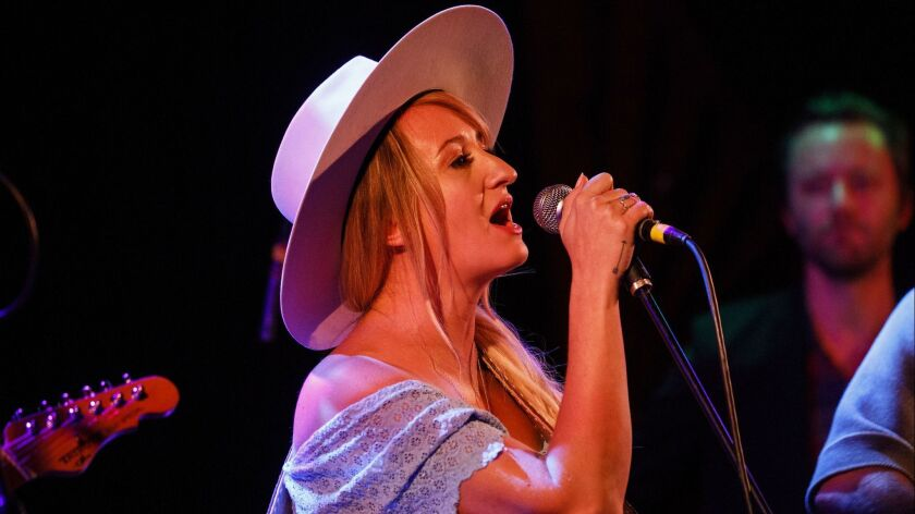 Best new artist Grammy nominee Margo Price was among more than two dozen musicians who performed Saturday during the Americana Music Assn.'s tribute to John Prine at the Troubadour.