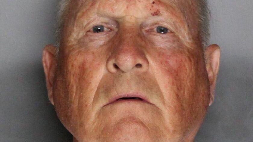 Joseph James DeAngelo Jr., suspect in the Golden State Killer case, appeared in court Monday, where his defense attorney fought the release of a search warrant and statements from investigators about their case.