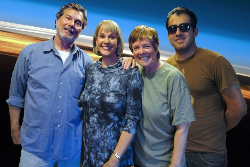 Enter the Blue Sky band members: John Seever, Karen Childress-Evans, Sande Lollis and Alberto Gonzalez