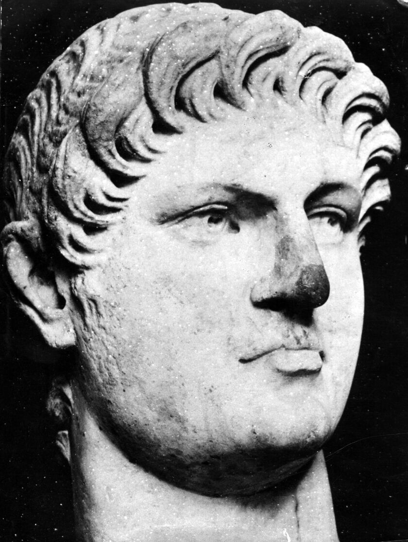 Circa 65 AD, A bust of the Roman Emperor Nero (37-68). (Photo by Henry Guttmann Collection/Hulton Archive/Getty Images)