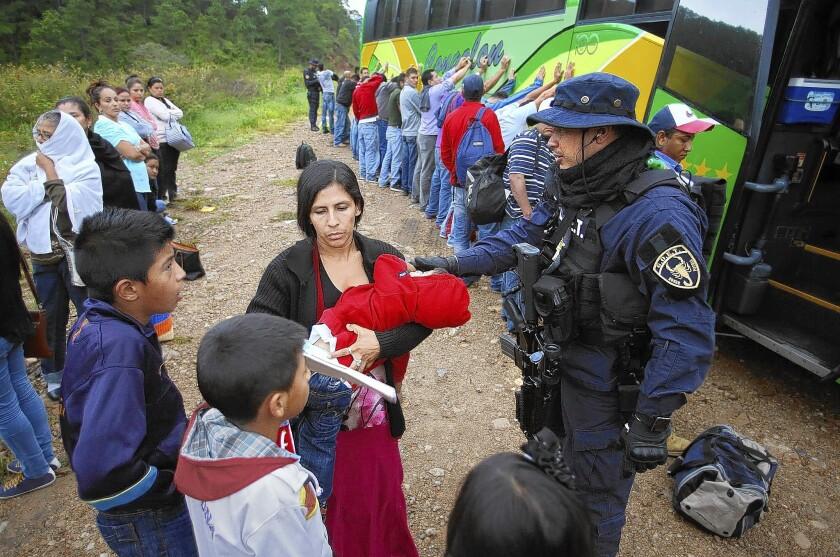 Children at border in Honduras