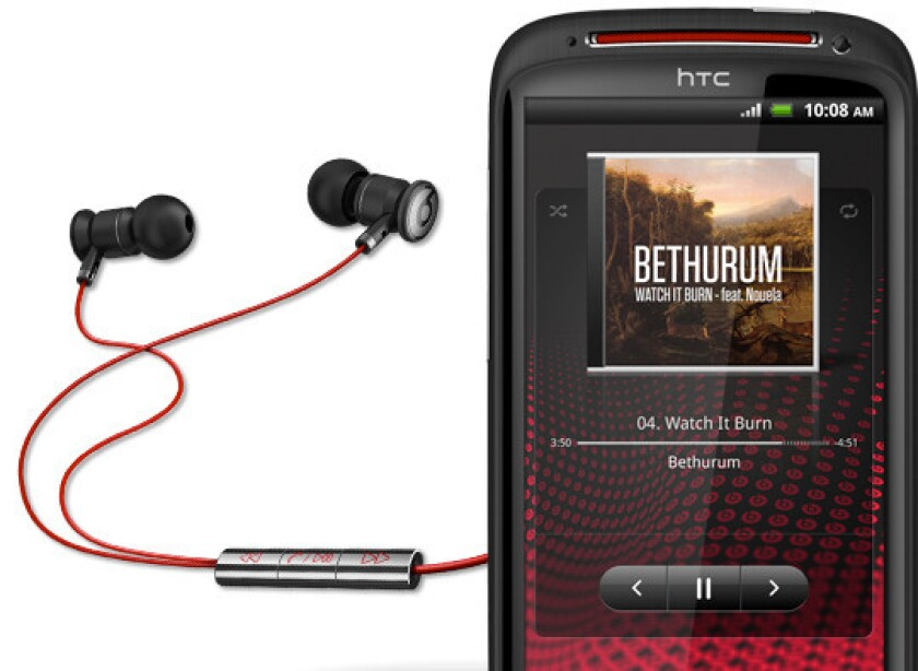 The HTC Sensation XE with Beats Audio smartphone.