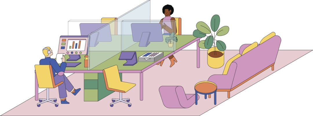 Architects predict that offices will be less densely populated as we enter the coronavirus era of design.