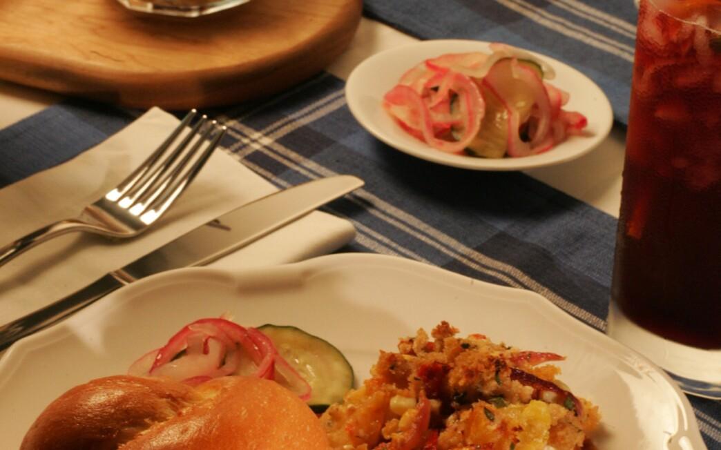 Chipotle-orange pulled pork on brioche rolls