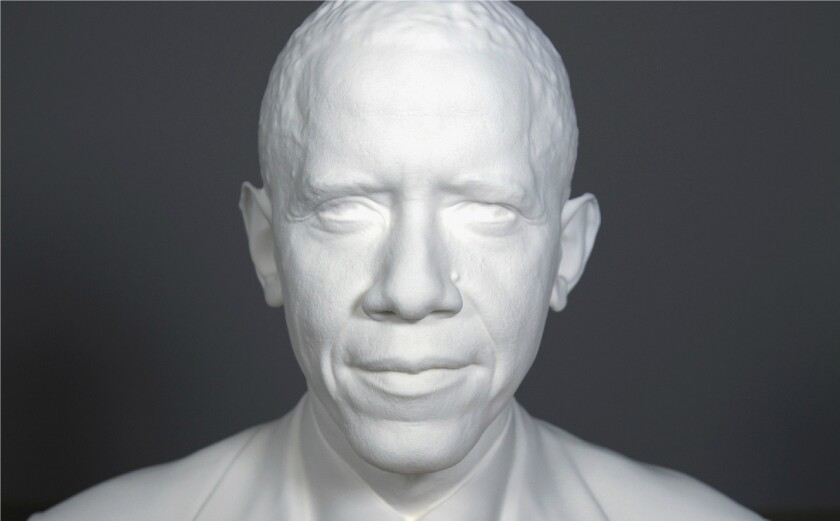 A 3-D printed portrait of President Obama has been created by the Smithsonian, working with experts from the University of Southern California.