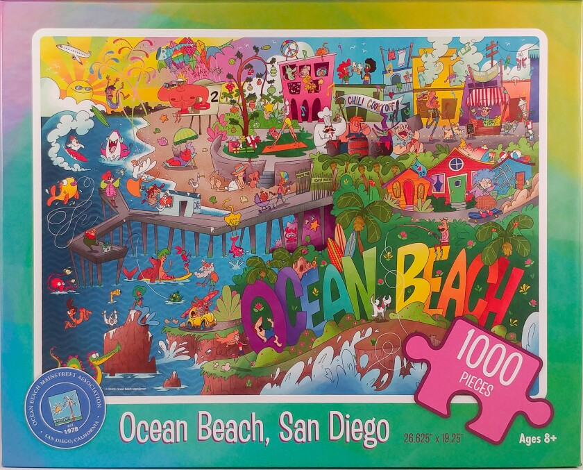 A new offering from the Ocean Beach MainStreet Association's online store is a jigsaw puzzle.