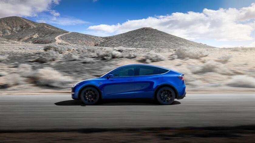 Vista del nuevo modelo eléctrico TeslaModel Y facilitada este viernes. EFE/Tesla