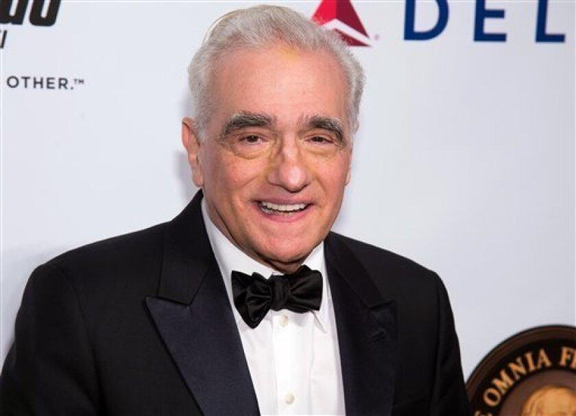"""En esta foto del 21 de septiembre del 2016, Martin Scorsese asiste a una ceremonia del Friars Club en Nueva York, donde sería agasajado como Ícono del Entretenimiento. """"Silence"""" de Scorsese, un drama histórico sobre la fe en el Japón feudal, se estrenará el 23 de diciembre, a tiempo para calificar para los Premios de la Academia."""