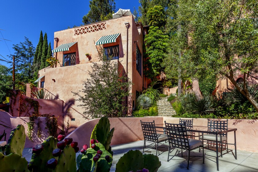 The Spanish-style complex in Hollywood Hills is meant to evoke the villages of Andalusia.