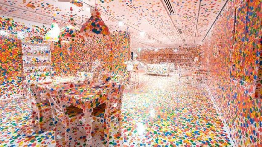 "Yayoi Kusama's ""Obliteration Room."""