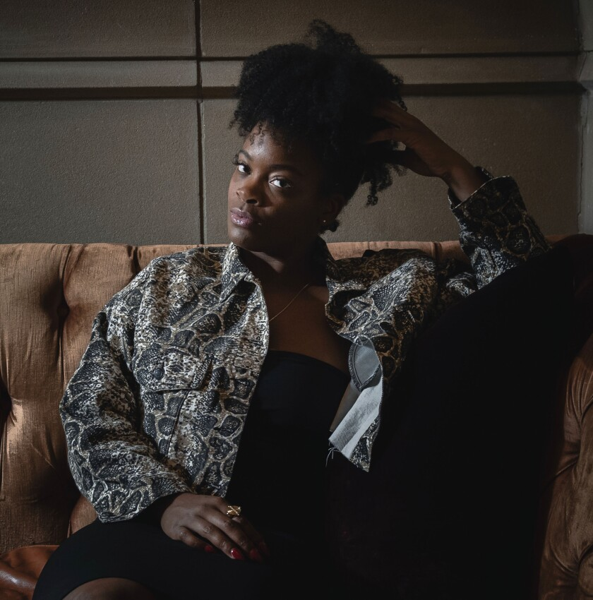 """This Aug. 28, 2019 photo shows Ari Lennox posing for a portrait in New York to promote """"Shea Butter Baby,"""" her full-length debut released in May. (Photo by Christopher Smith/Invision/AP)"""