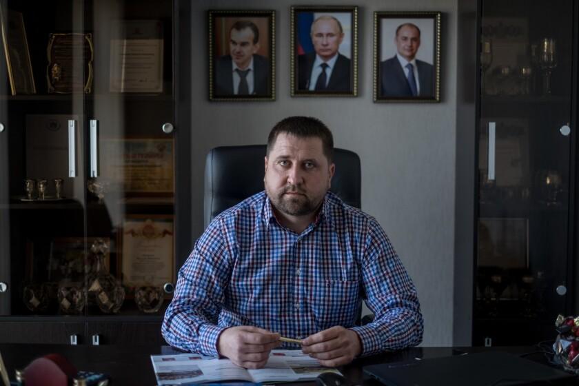 Vasiliy Oneshchenko, a successful farmer in Krasnodar, Russia.