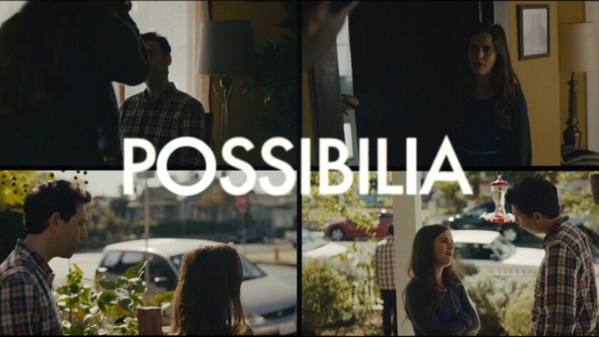 """Alex Karpovsky and Zoe Jarman in """"Possibilia,"""" an interactive video produced with Interlude's technology."""