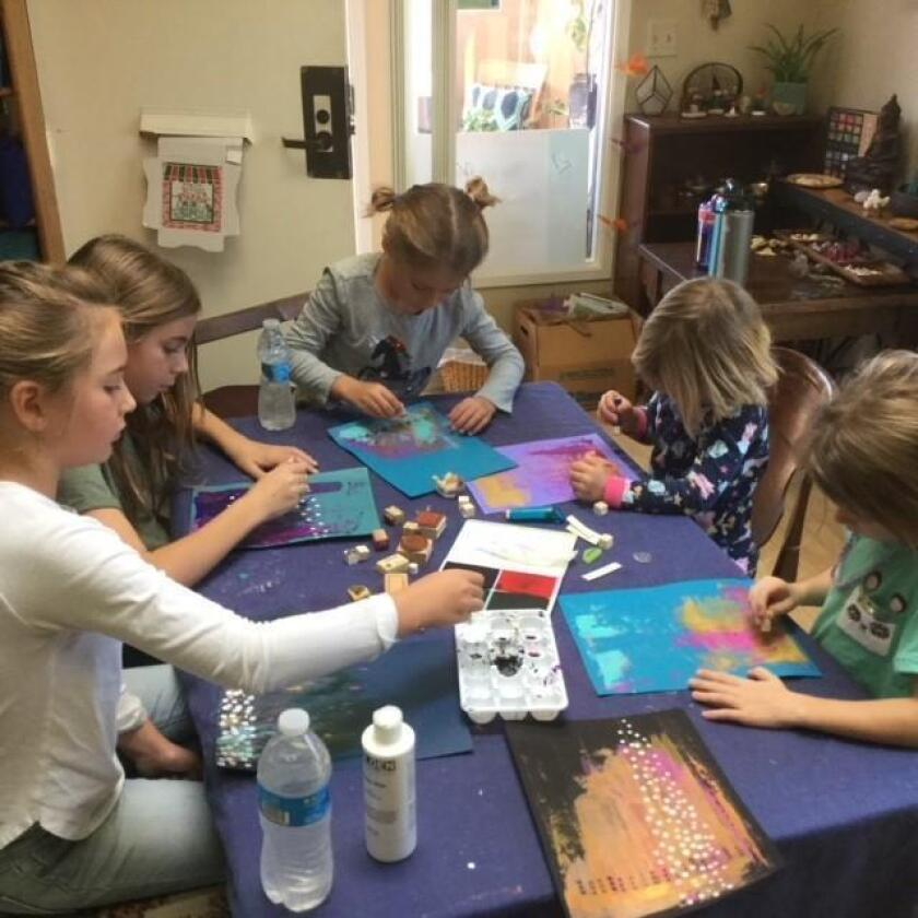 A painting class at The Grateful Dandelion Atelier