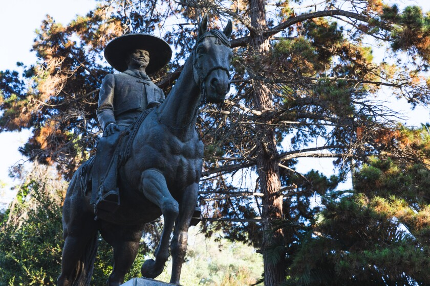 Former Mexican President Gustavo Diaz Ordaz donated this statue of a Mexican charro to San Diego.