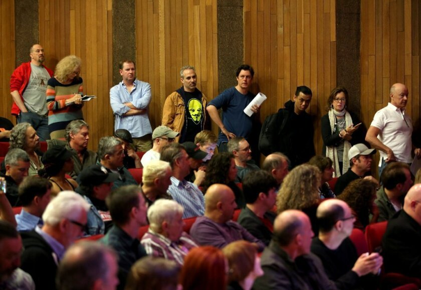 Alarmed by a proposal by the stage actors' union, Actors' Equity, to boost actors pay in L.A.'s small theaters, a producers group held a Town Hall meeting on Feb. 21 to assess whether that's what the theater community really wants.