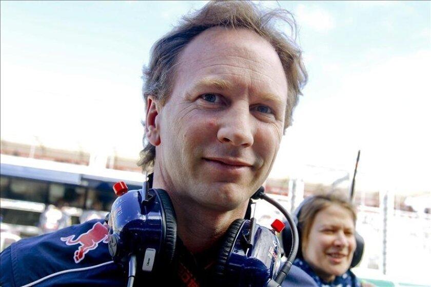 El jefe de equipo de Red Bull, Christian Horner. EFE/Archivo