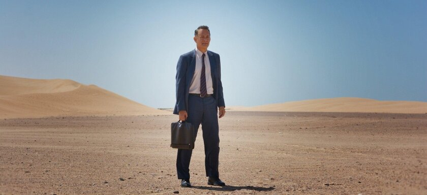 """Tom Hanks, looking parched and beerless in 2016's """"A Hologram for the King."""""""