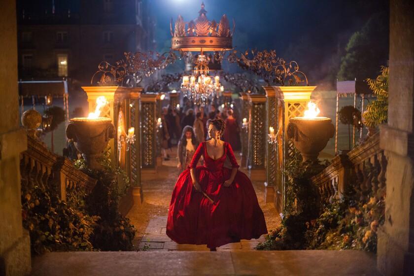 "Caitriona Balfe as Claire Randall Fraser in ""Outlander."""