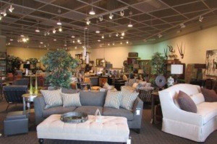 The showroom at Grace-Ful Living Home Furnishings in Encinitas. Photos/Kristina Houck