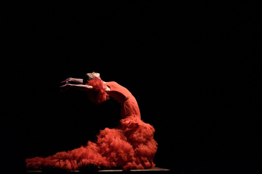 Flamenco dancer Olga Pericet and company perform at the Ford Theatres on Saturday.